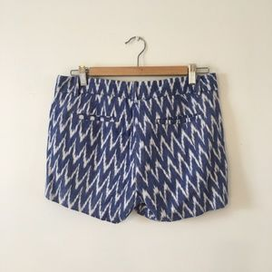 J.Crew blue and white ikat shorts
